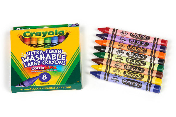 Eight Large Washable Crayons