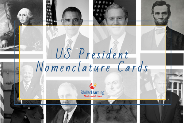 US President Nomenclature Cards