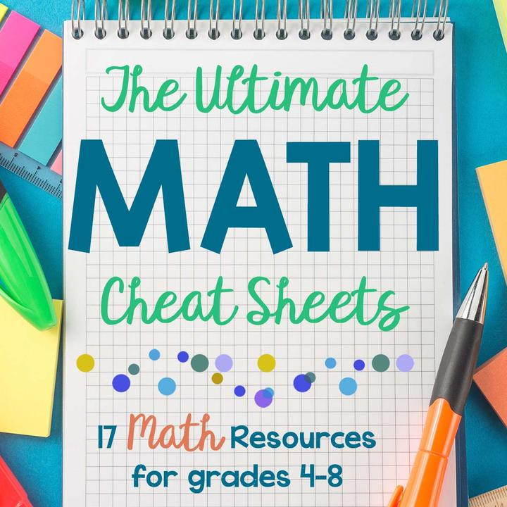 The Ultimate Math Cheat Sheets