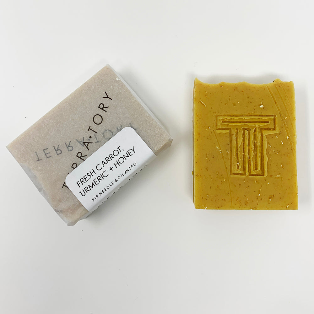 Fresh Carrot, Turmeric + Honey Cold Process Soap