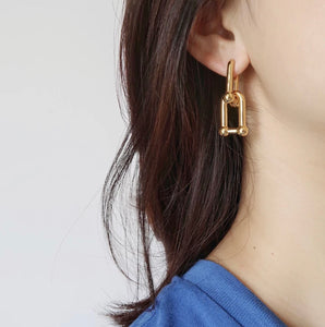 Chain Reaction Earrings (Gold)