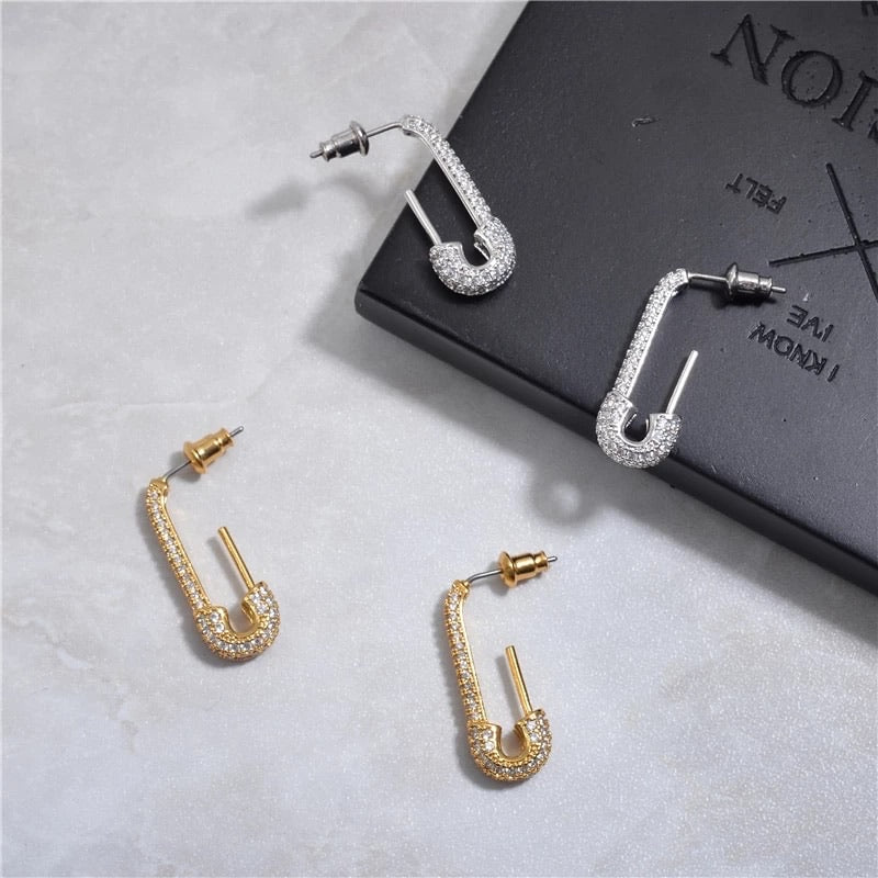 Elevated Pin Earrings (Gold)