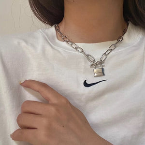 Lock To My Heart Necklace (Silver)