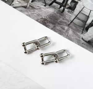 Chain Reaction Earrings (Silver)