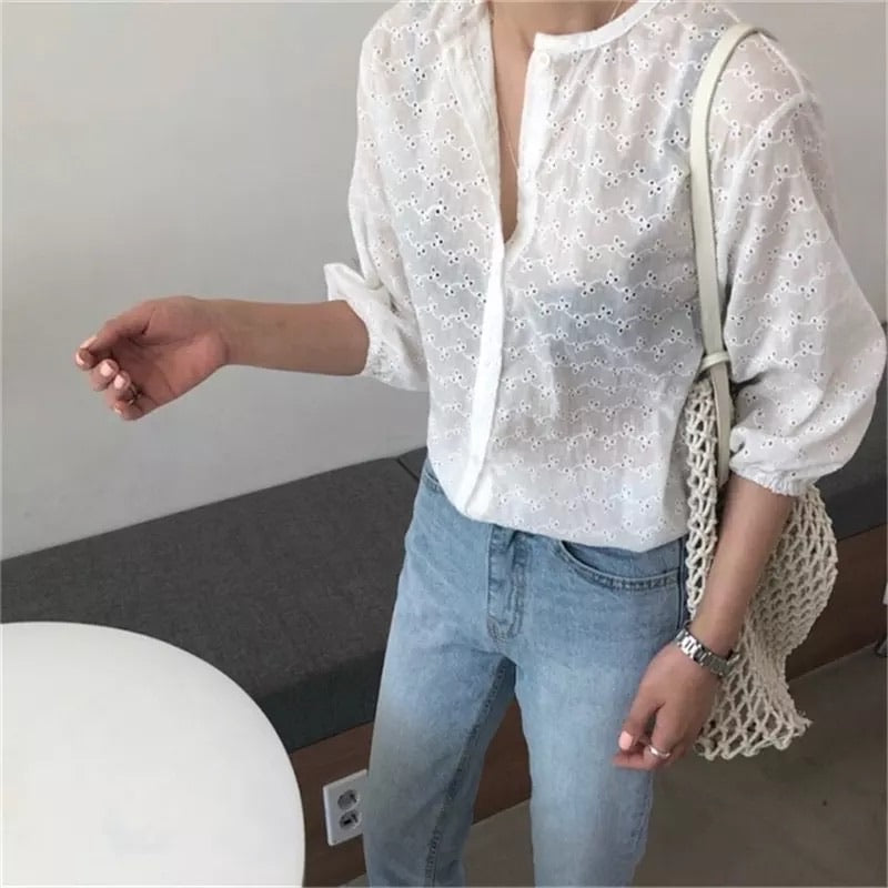Dainty Embroidery Top