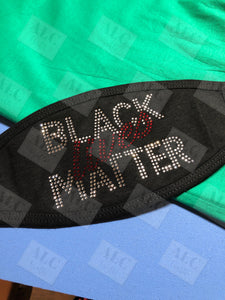 Black Lives Matter Rhinestone Face Mask