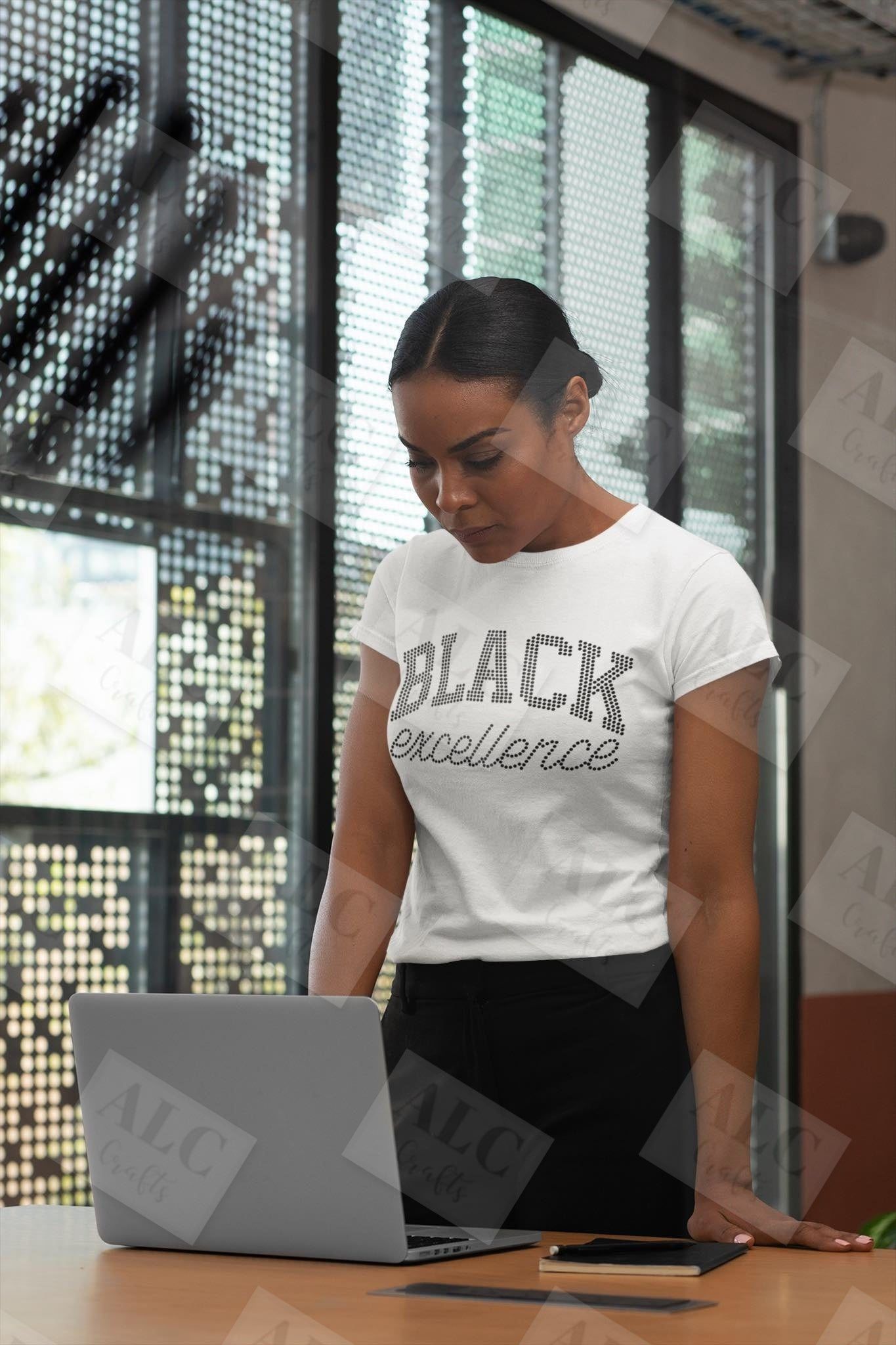 Black Excellence Rhinestone T-Shirt