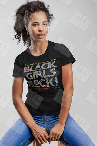 Black Girls Rock Rhinestone Shirt