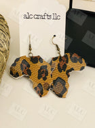 Faux Leather Africa Earrings