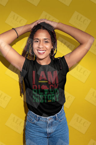 I Am Black History Rhinestone Shirt