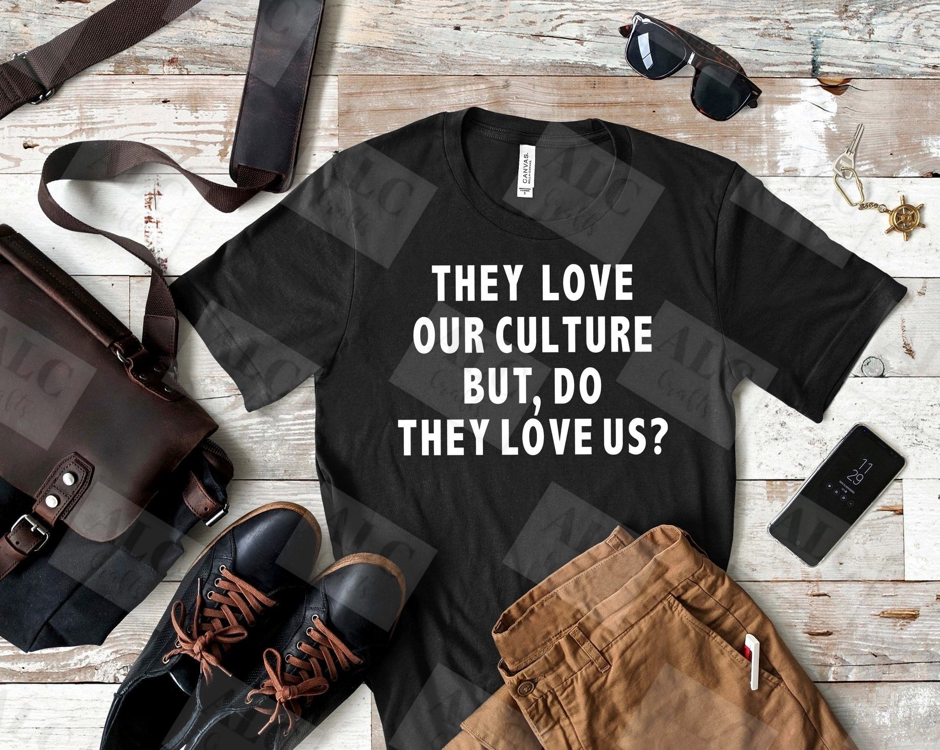Heat Transfer Vinyl (HTV) They Love Our Culture But Do They Love Us T-Shirt