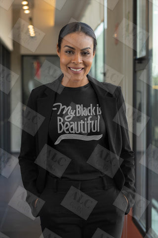 My Black Is Beautiful Rhinestone Shirt