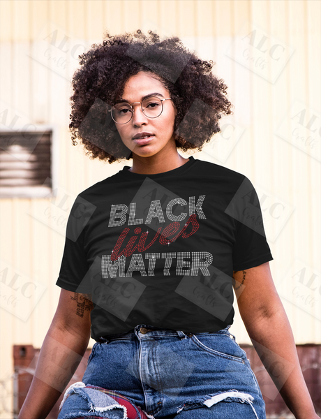 Black Lives Matter Rhinestone Shirt