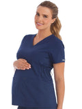 8459 V-NECK SIDE KNIT MATERNITY TOP