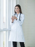 9657 TAILORED EMPIRE LONG LENGTH LAB COAT