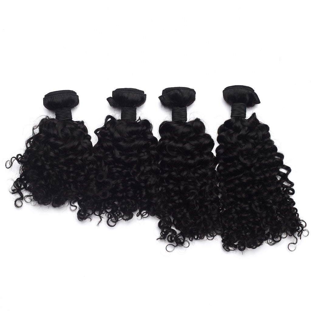 Malaysian Curly Hair 4 Bundle Deal