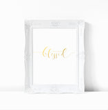 Immeasurably Blessed - Gold Foil Inspirational Print