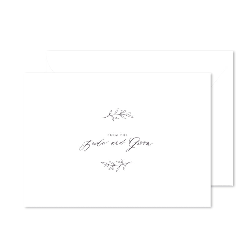 From the Bride and Groom - Set of 3