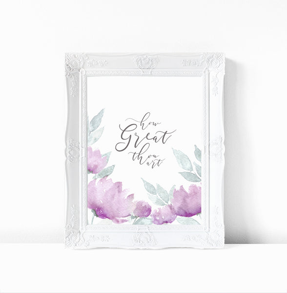How Great Thou Art - Watercolor Print and Digital Download