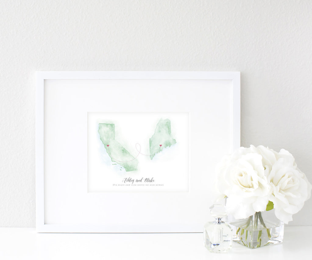 -Long Distance Map Prints