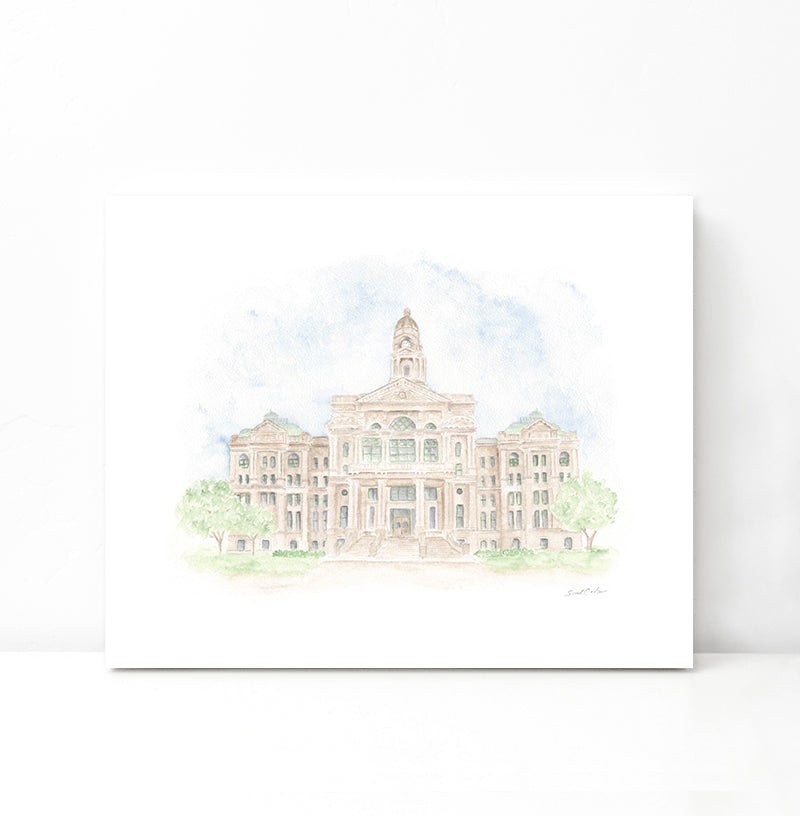Tarrant County Courthouse - Digital Download