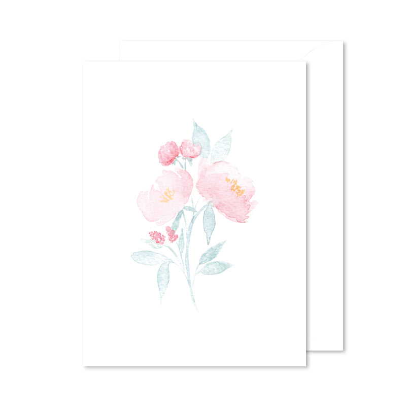 Encouragement Note Card - Floral Watercolor Bouquet