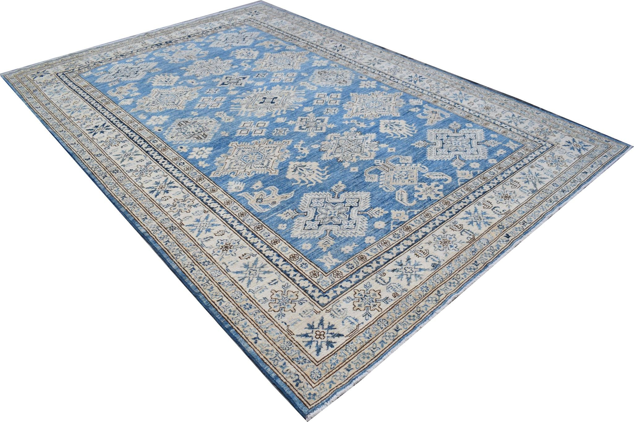 Handmade Afghan Rug in Blue