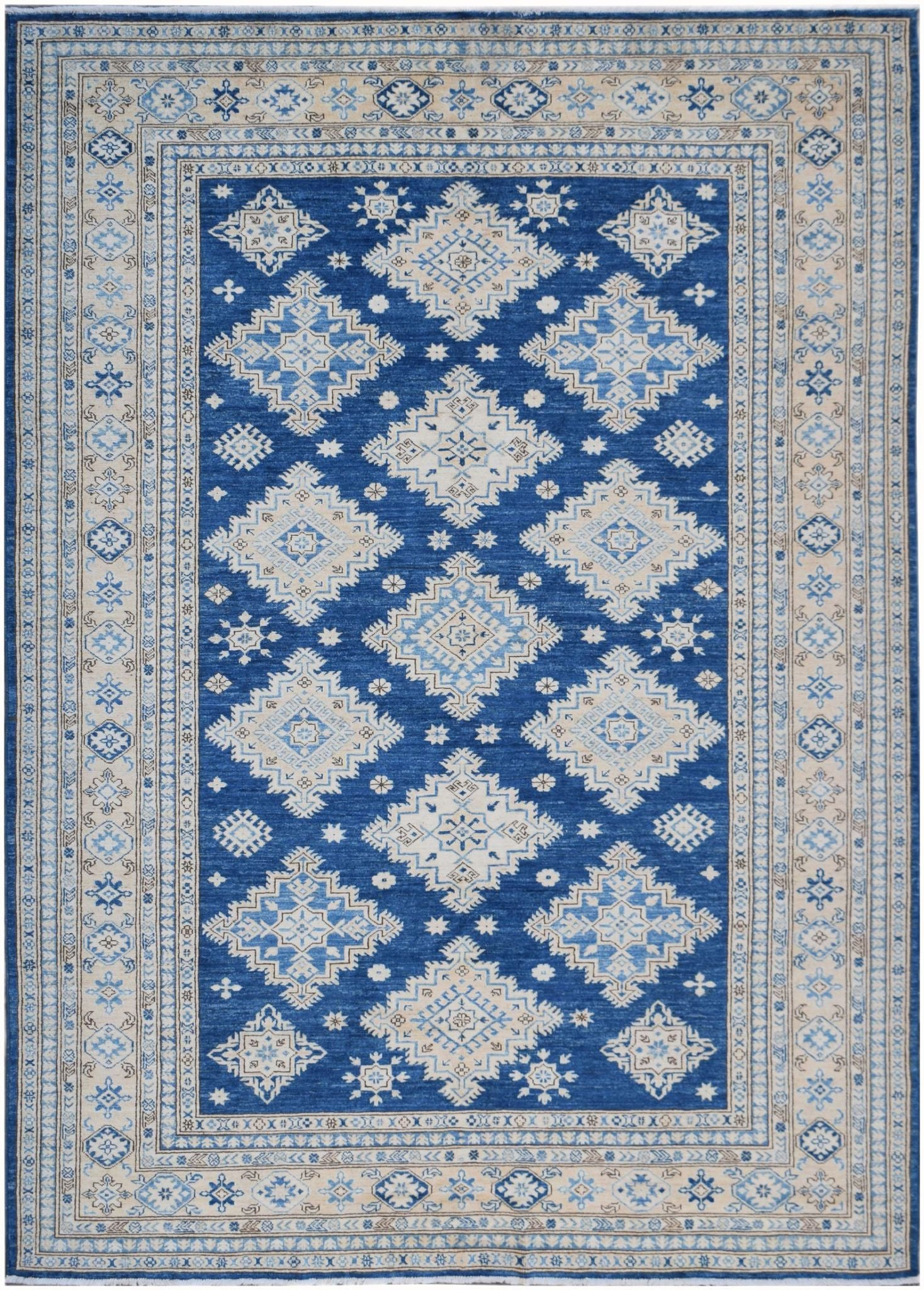 Handknotted Afghan Rug in Deep Blue