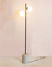 Load image into Gallery viewer, Marble Based Floor Lamp in Black