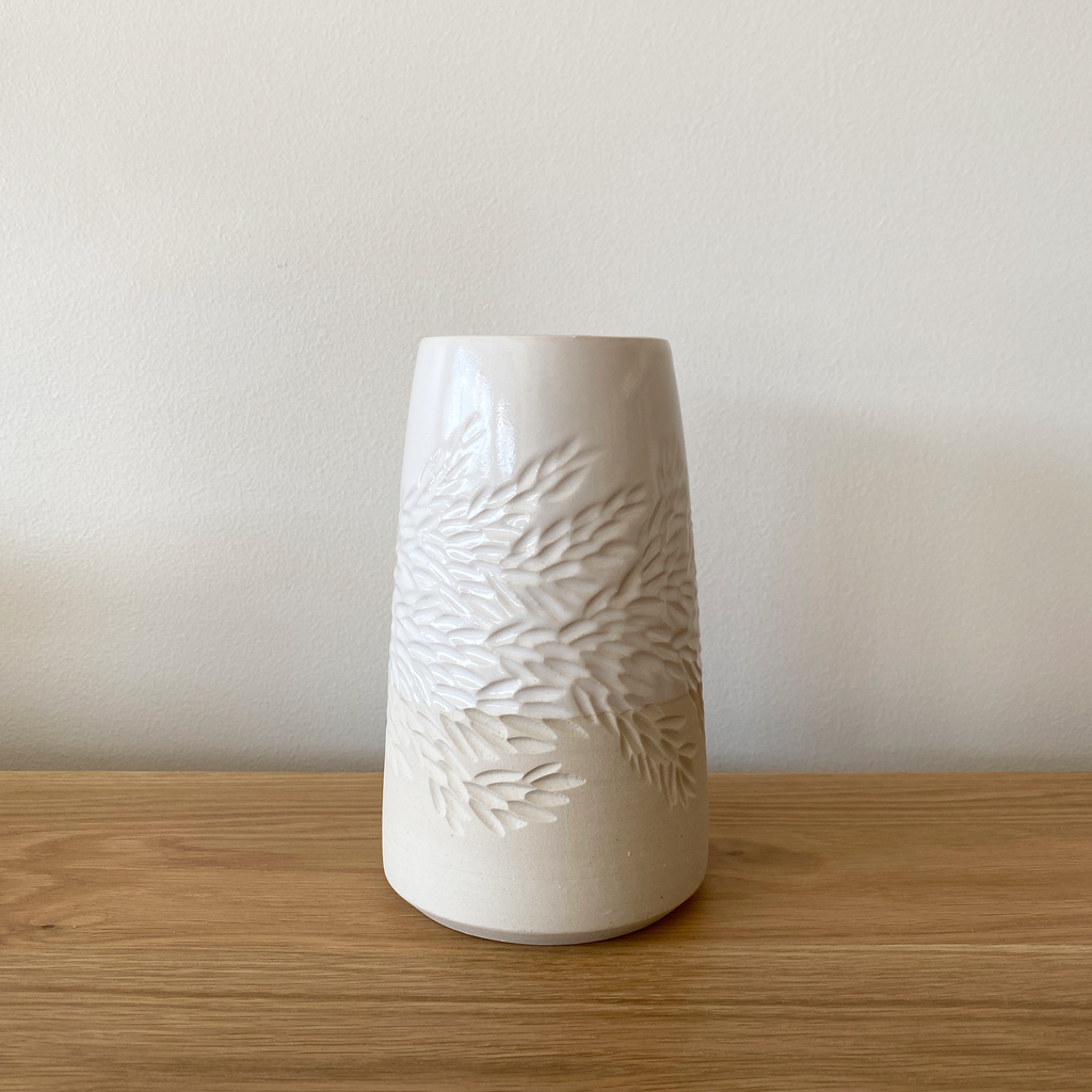Handcarved Ceramic Vase