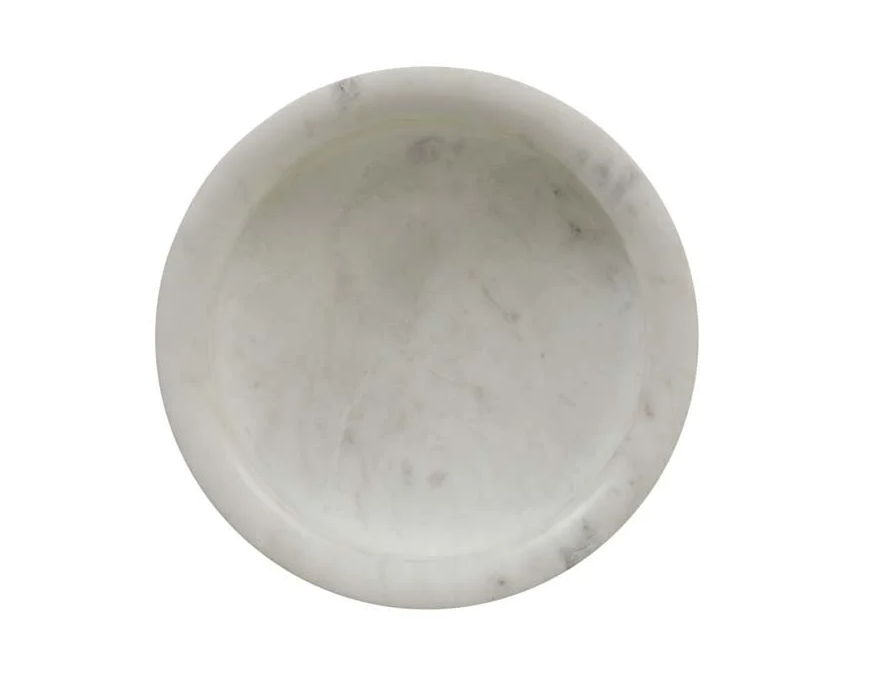 Sculpted White Marble Bowl