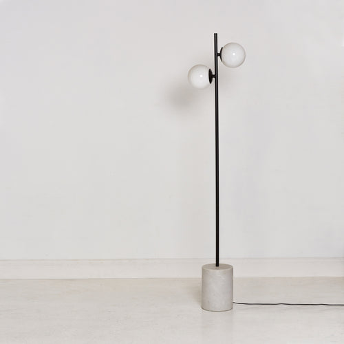 Marble Based Floor Lamp in Black