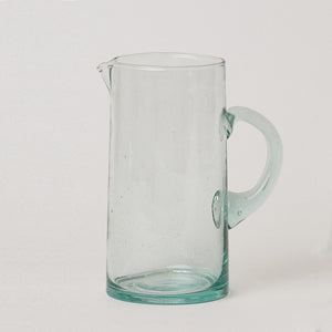 Moroccan Glass Carafe with Handle and