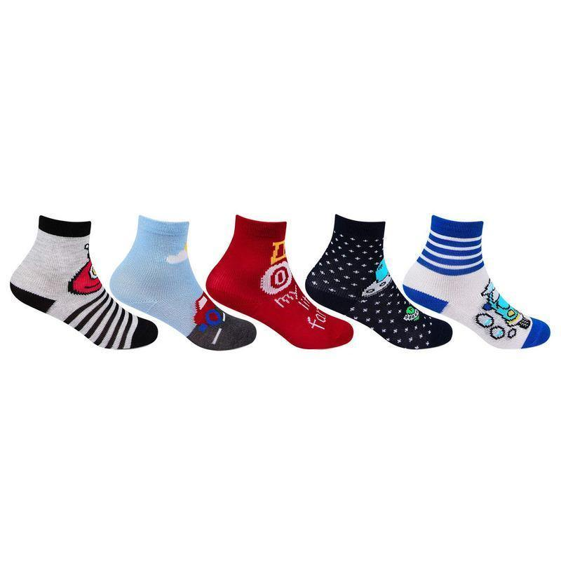 Infants Fancy Abstract Design Ankle Socks
