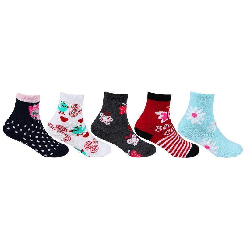Infant Fancy Multicolored Ankle Socks - Pack of 5