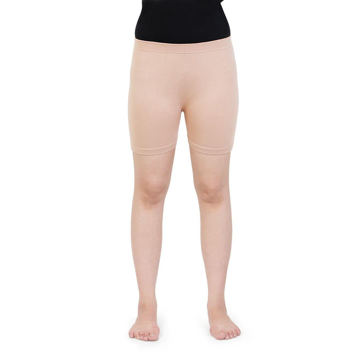 Women Plain Seamless Under Skirts -  Skin
