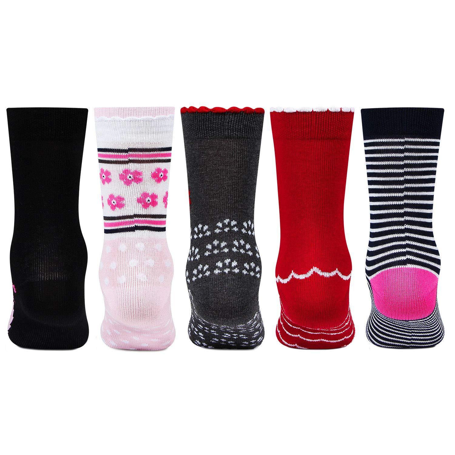 Girls Multi-color Fashion Socks - Pack Of 5
