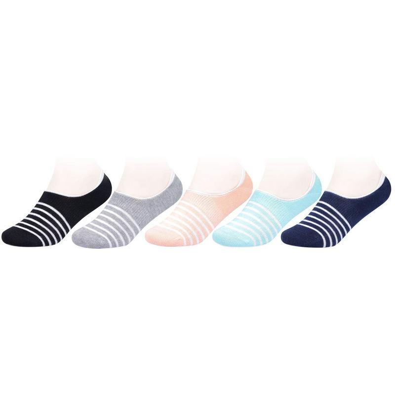 Kids Fancy Striped Multicolored Loafer Socks - Pack of 5