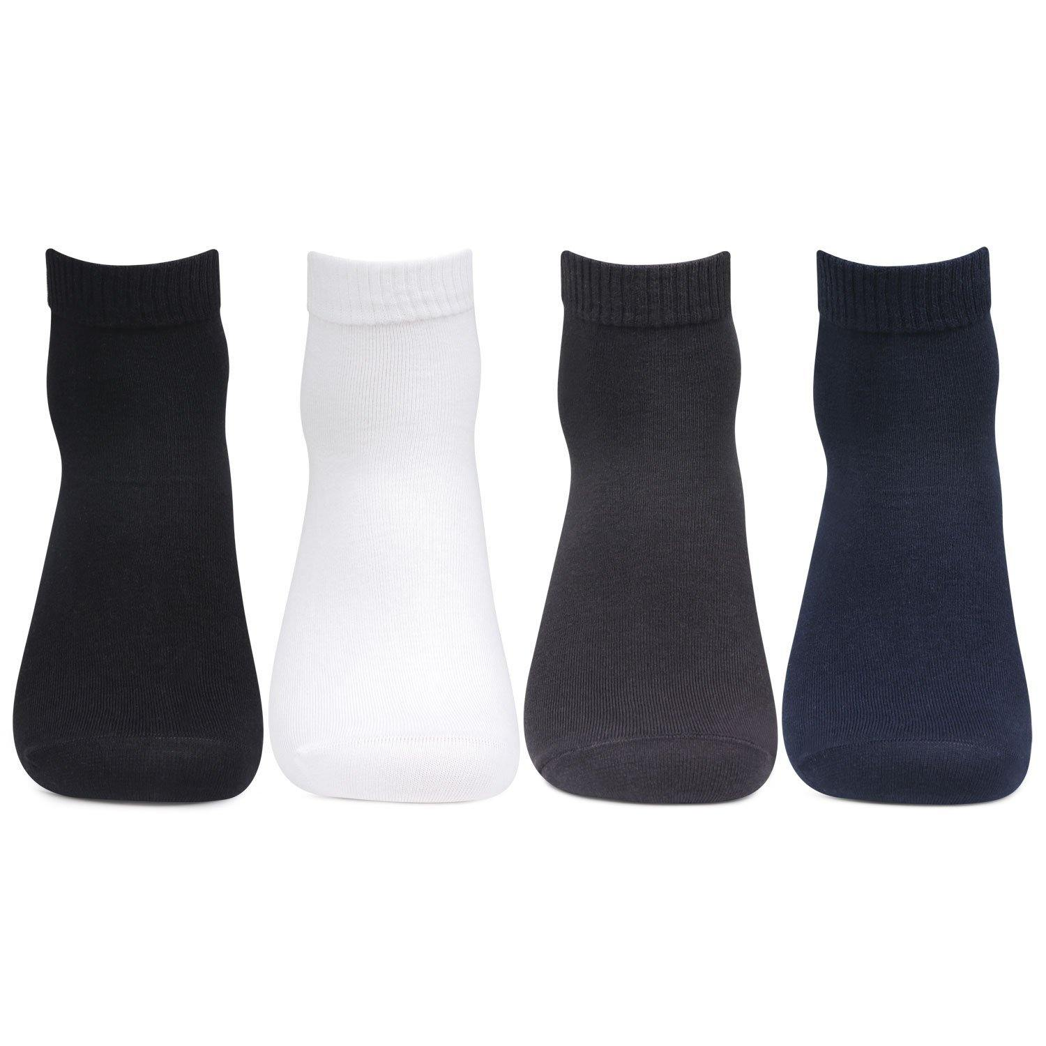 Men's Club Class Multi-Pack Ankle Socks- Pack of 4