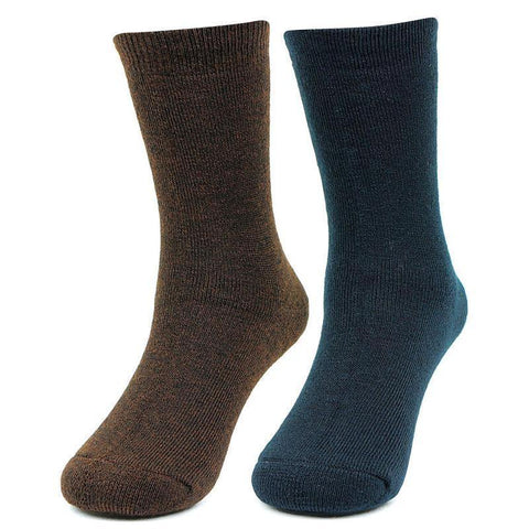 Bonjour Kids Plain Multicoloured Woolen Crew Socks- Pack of 2