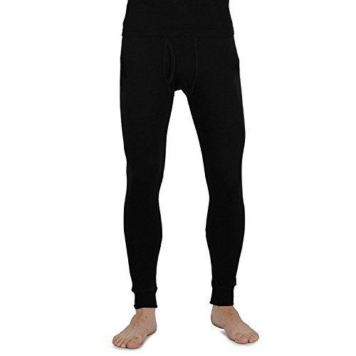 Men's  Plain Thermal Lower in XL - Black