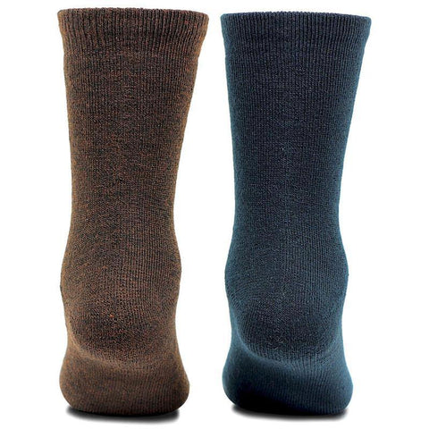 Kids Plain Multicolored Woolen Crew Socks- Pack of 2