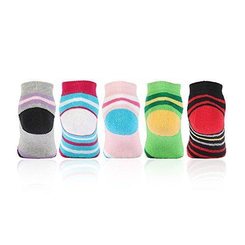 Fashionable  Multicolored Cushioned Socks With Cute Prints for Infants- Pack of 5