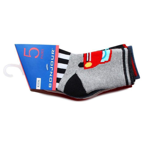 Baby Fancy Multicolored Printed Ankle Socks - Pack of 5