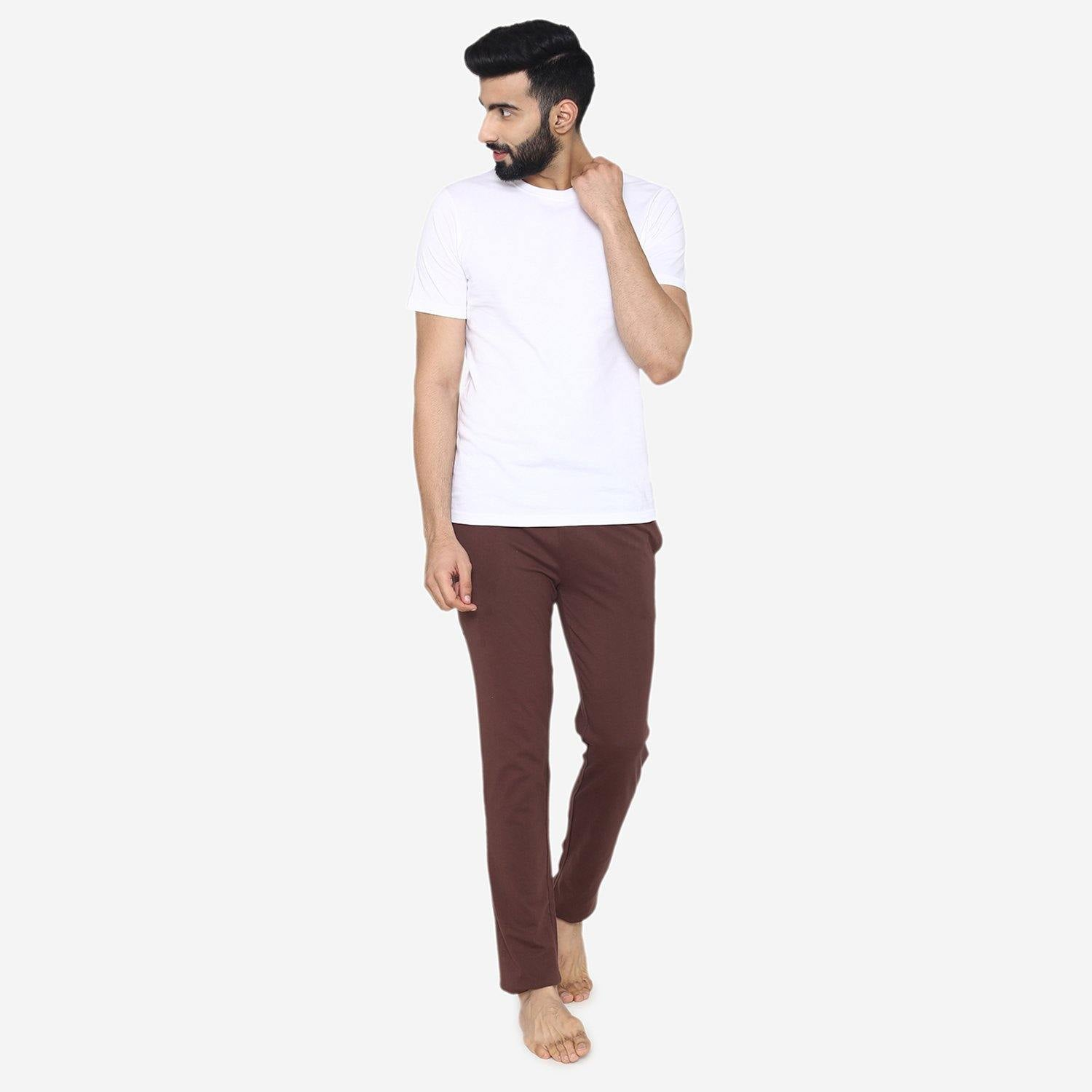 Casual Plain Knitted lower for Men - Choco