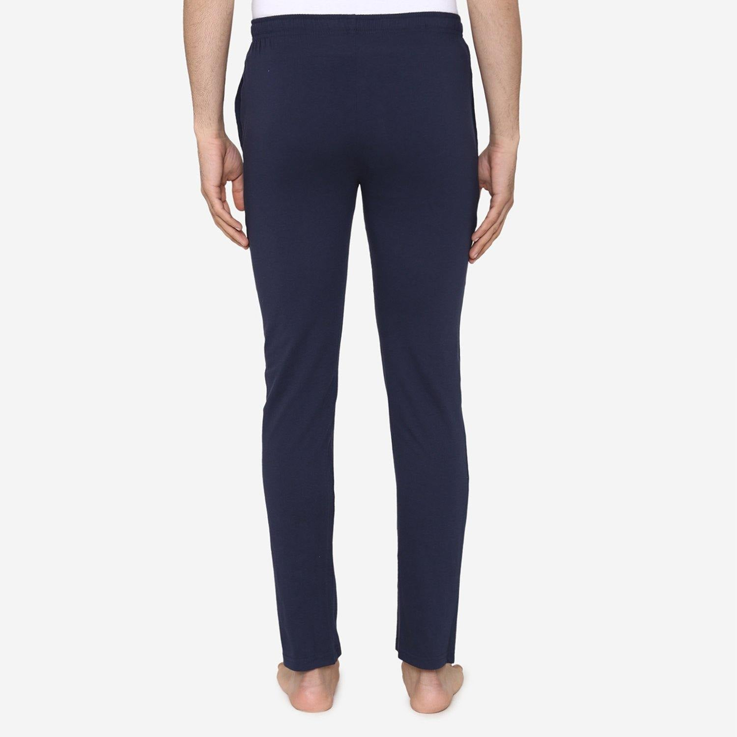 Casual Plain Knitted Lower For Men - Navy