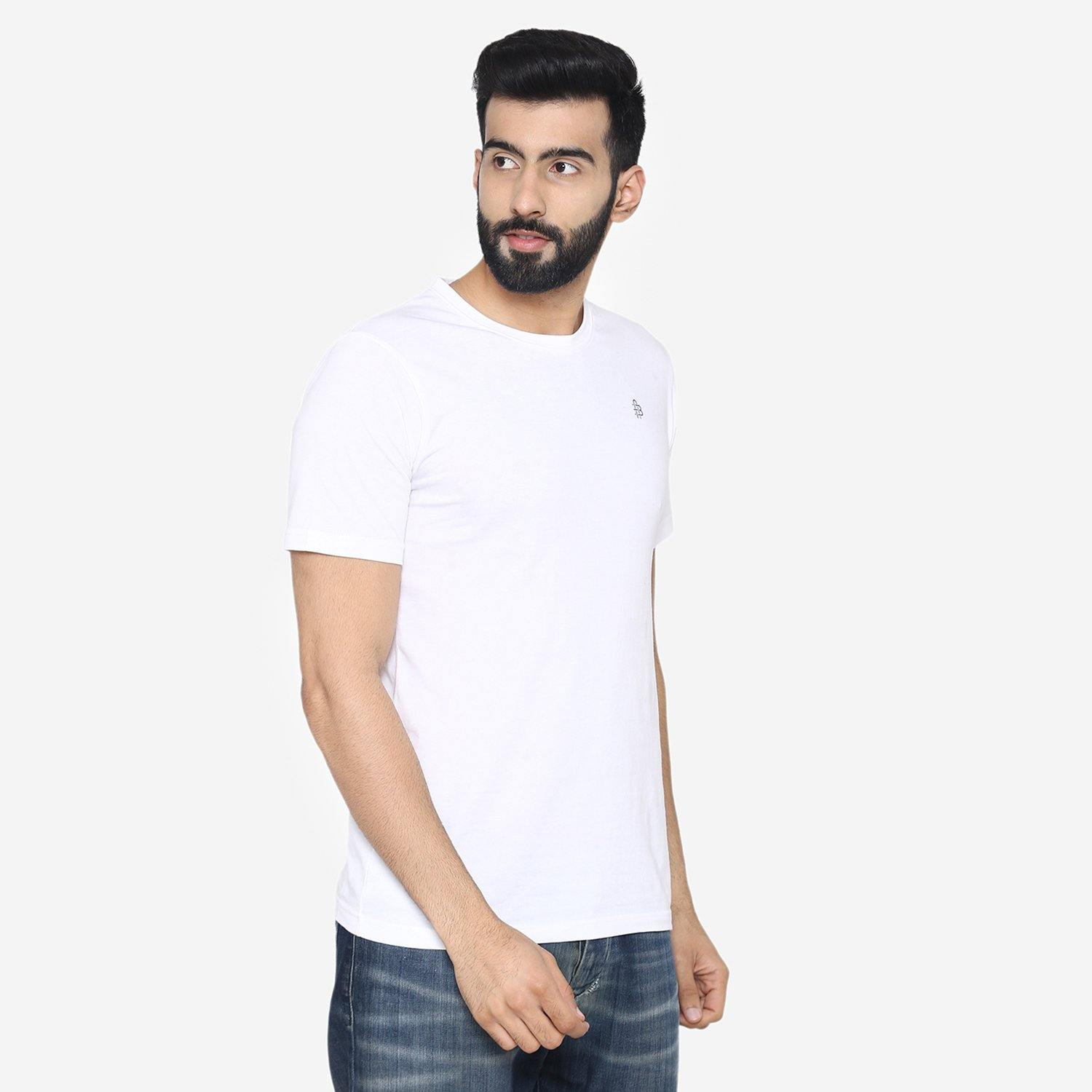 Men's Plain Half Sleeve Casual T-Shirt for Summer