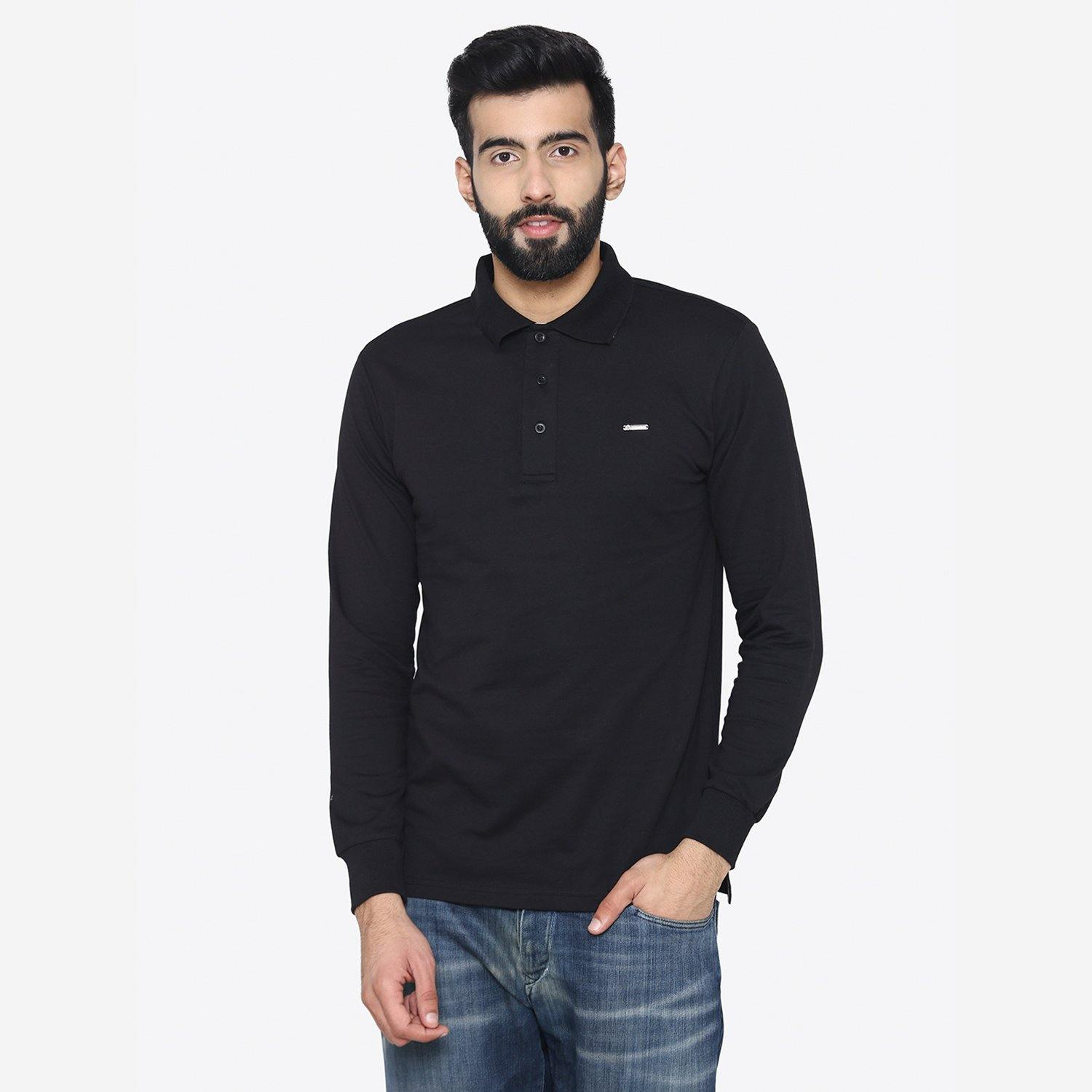 Men's Winter Wear Stylish Sweatshirt - Black