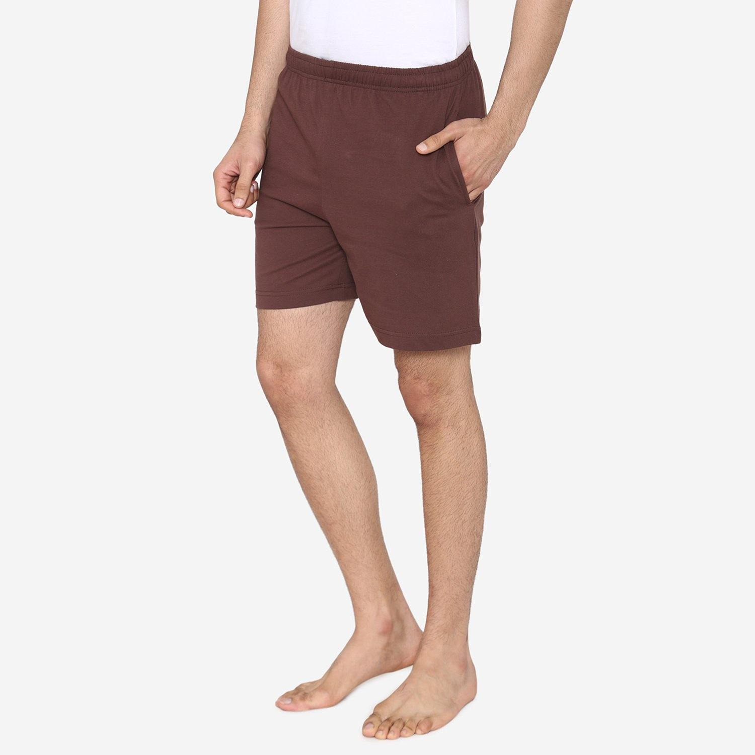 Men's Plain Comfy & Casual Shorts For Summer - Choco