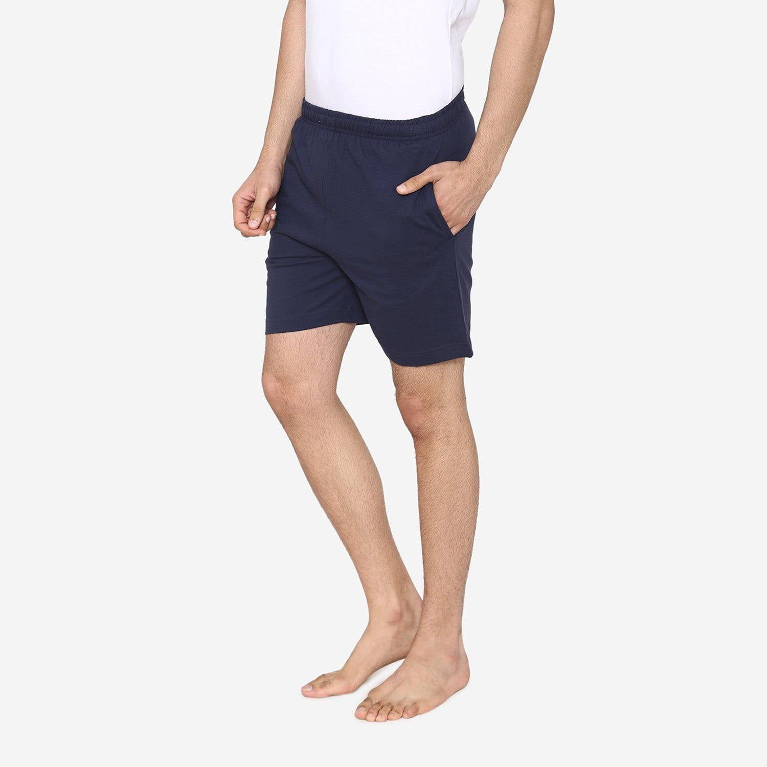 Men's Plain Comfy & Casual Shorts For Summer - Navy